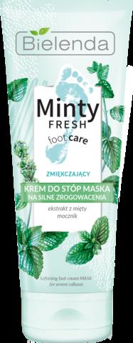 MINTY FRESH FOOT CARE кремовая смягчающая маска для ног, 100 мл