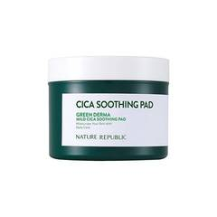 Пэды NATURE REPUBLIC Green Derma Mild Cica Soothing Pad 90шт.