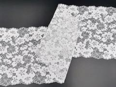 Эластичное кружево, 21 см, светло-серый, (Арт: EK-2252), м