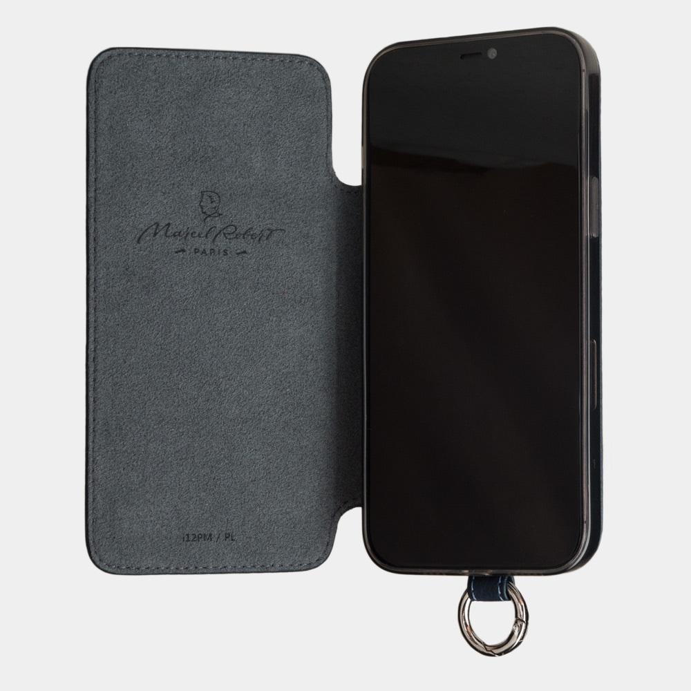 Чехол Marcel для iPhone 12 Pro Max из натуральной кожи теленка, цвета синий мат