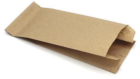 Пакет фасовочный бумажный 80х45х185 мм с плоским дном КРАФТ 40