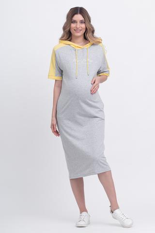 Платье для беременных и кормящих 12628 серый