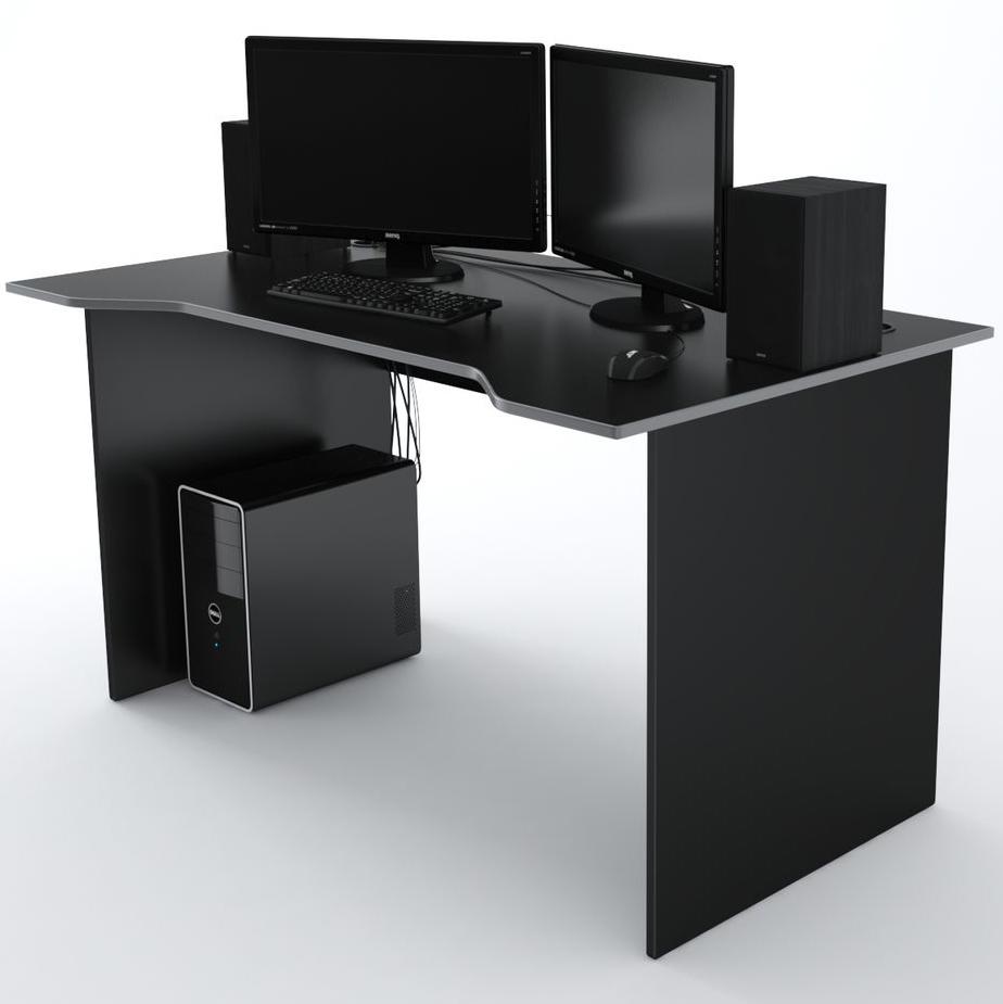 Стол Компьютерный Jedi 1400 Черный/Серый