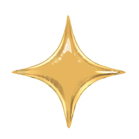 Шар-звезда 4х-конечная золото, 71 см