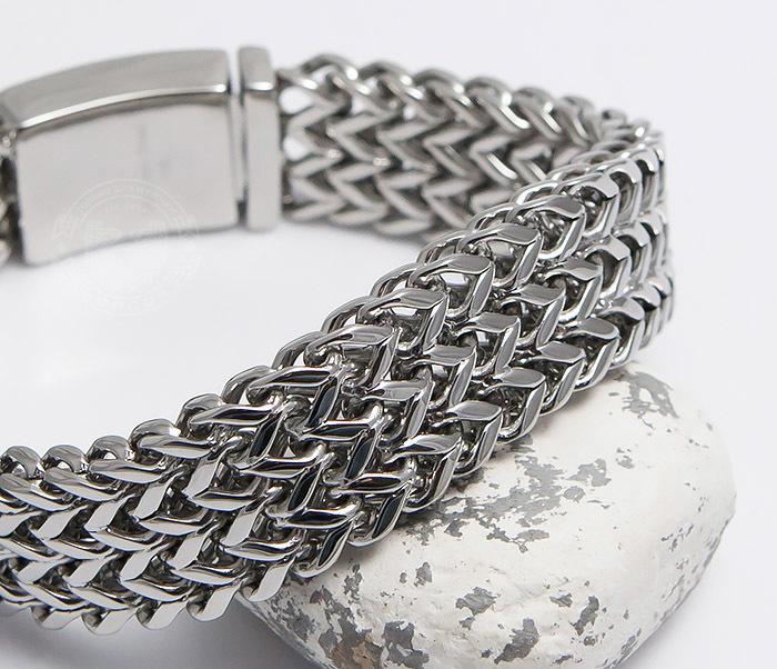 BM468-1 Оригинальный мужской браслет из стали на застежке (22 см) фото 06