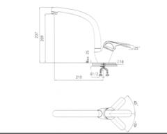 Смеситель Granula 2024 - схема