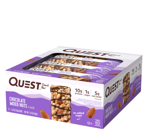 Батончики Quest Snack Bar Chocolate Mixed Nuts (12 шт)
