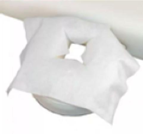 Салфетка СМС 30*40 для кушетки с вырезом для лица 20 гр. 50 штук в упаковке.