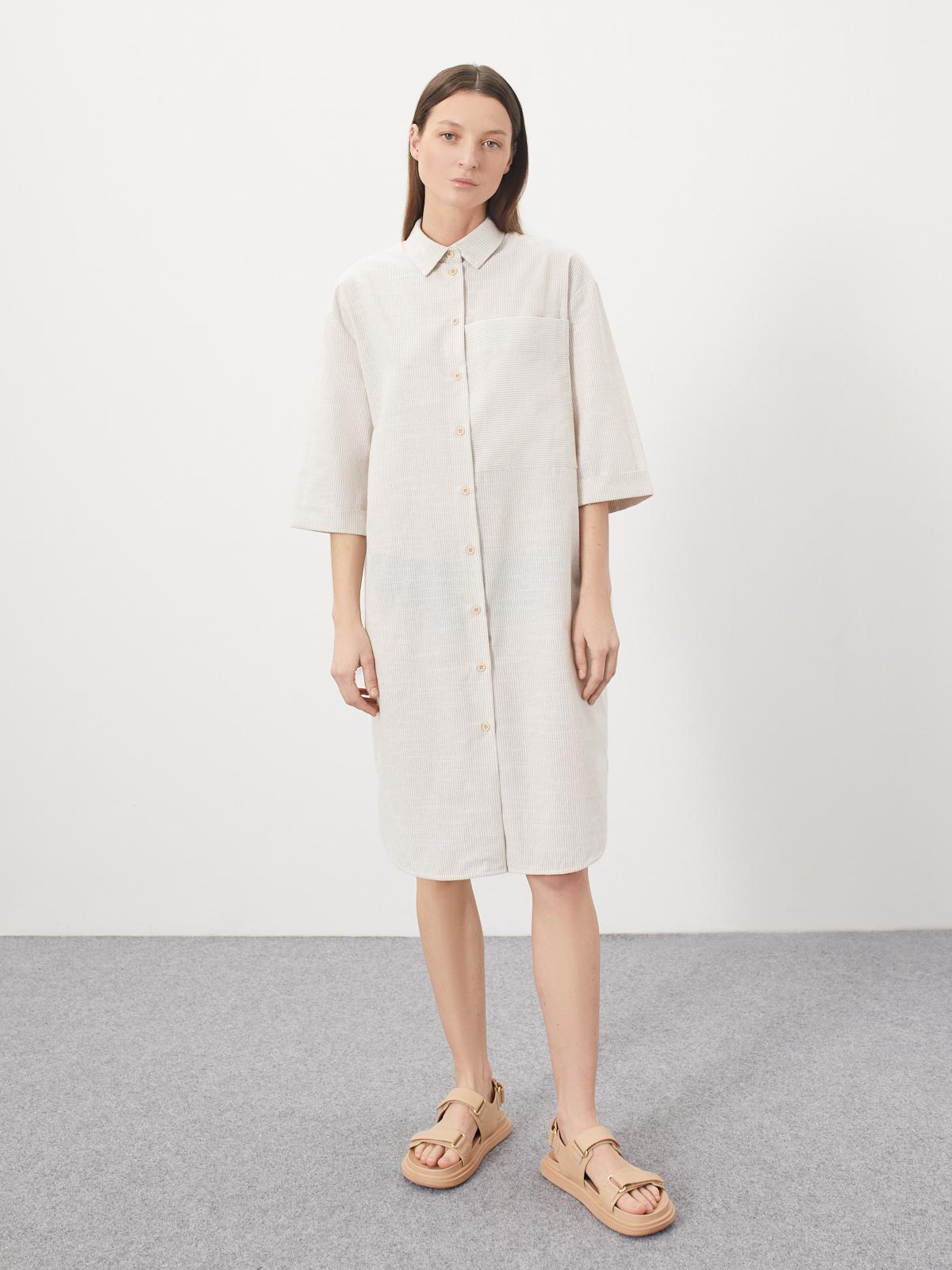 Платье-рубашка Bram с большим карманом