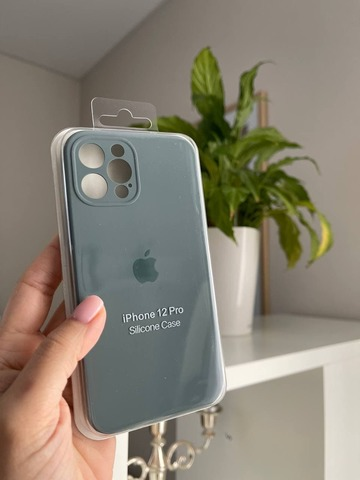 iPhone 12 Pro Silicone Case Full Camera /pine green/