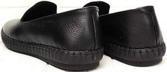 Мужские туфли слипоны стиль кэжуал Broni M36-01 Black.