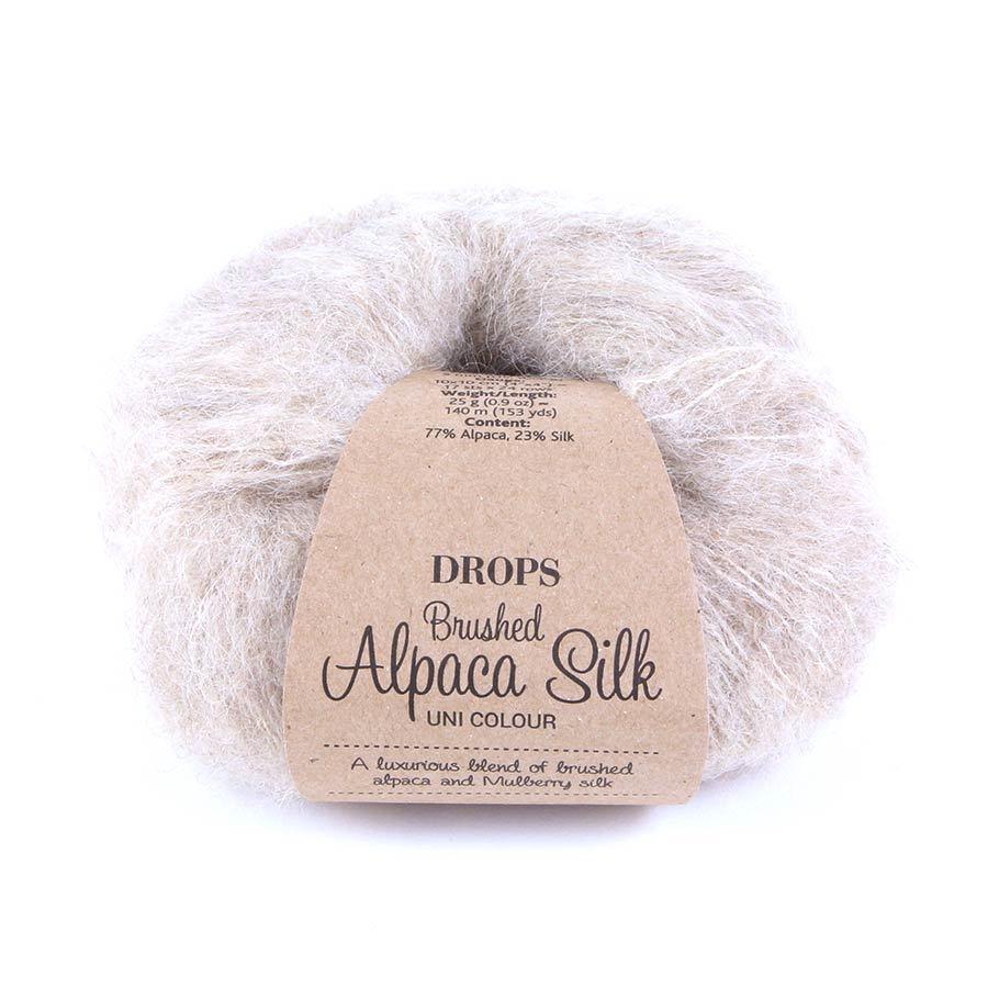 Пряжа Drops Brushed Alpaca Silk 04 бежевый