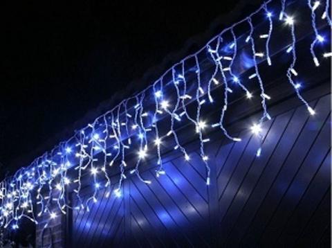 Бахрома светодиолная уличная 5*0,7м 200LED синий