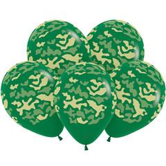 S 12 Камуфляж, Темно-Зеленый Пастель, 5 ст. / 12 шт./