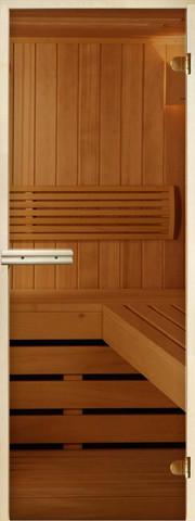 Дверь Стандарт 8мм бронза, короб осина/липа