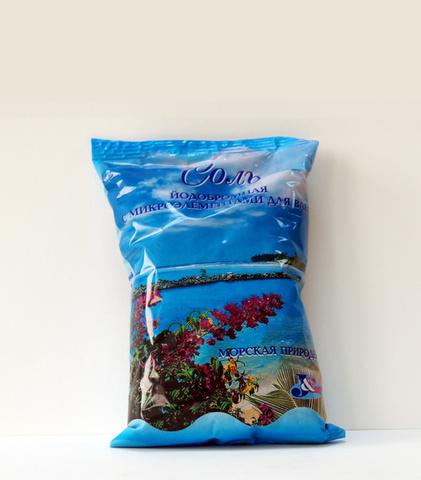 Соль йодобромная с микроэлементами для ванн (морская природная)