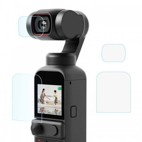 Пленка защитная для экрана и объектива DJI Pocket 2 (комплект 3 шт) STARTRC