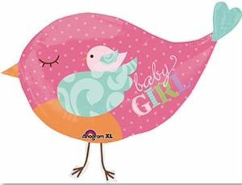 А ФИГУРА/P35 Птичка розовая