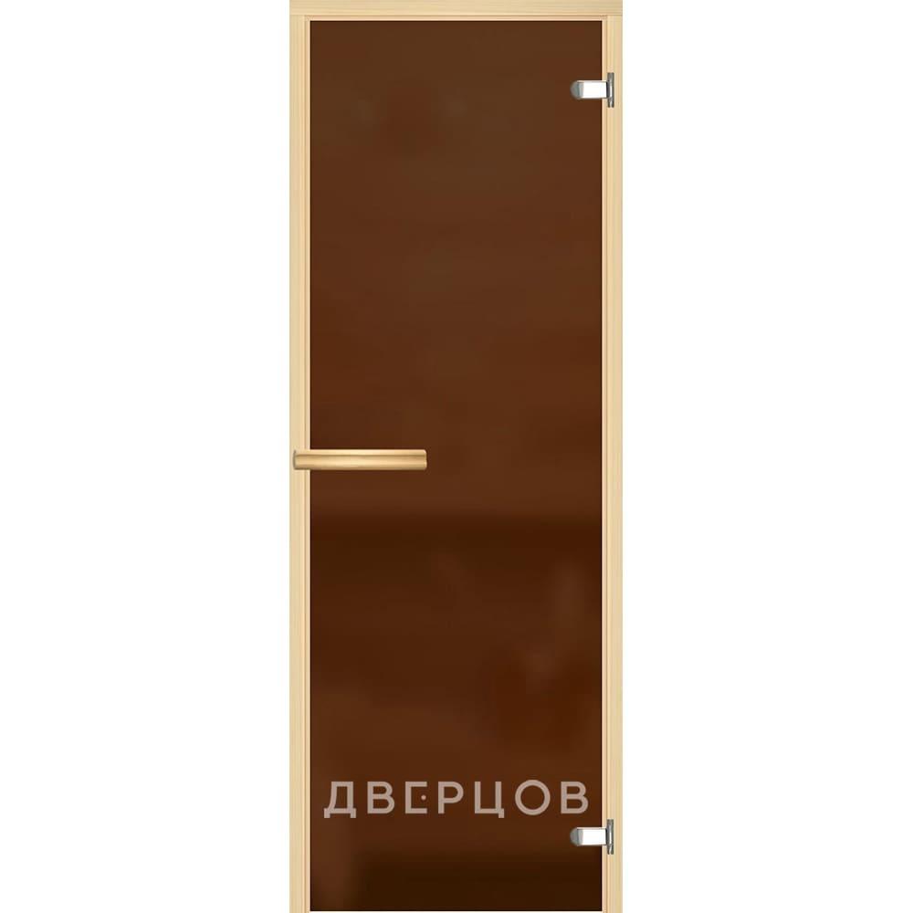 Двери для бани и сауны Дверь для сауны бронзовая матовая ручка магнит АКМА_Light_Бронза_мат_715_олив.jpg
