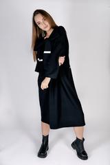 Черное трикотажное платье миди оптом