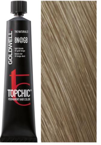 Goldwell Topchic 8N@GB - сетлый блонд с золотисто-бежевым сиянием (шамуа) TC 60ml