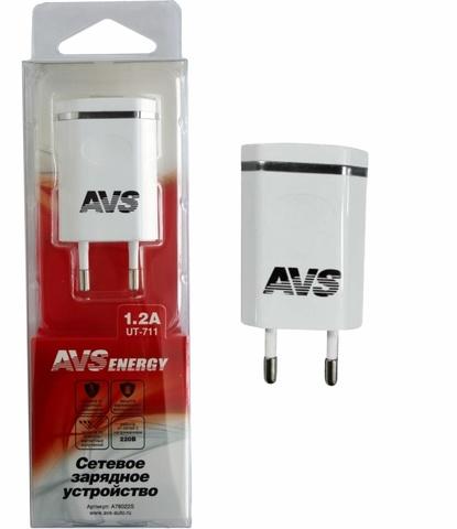 Сетевое зарядное устройство USB AVS 1 порт UT-711 (1,2А)