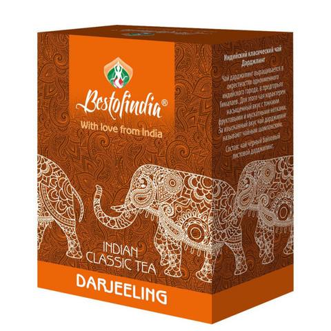 Чай DARJEELING черный индийский листовой100г Bestofindia