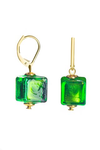 Серьги Perla Cubo зелёные