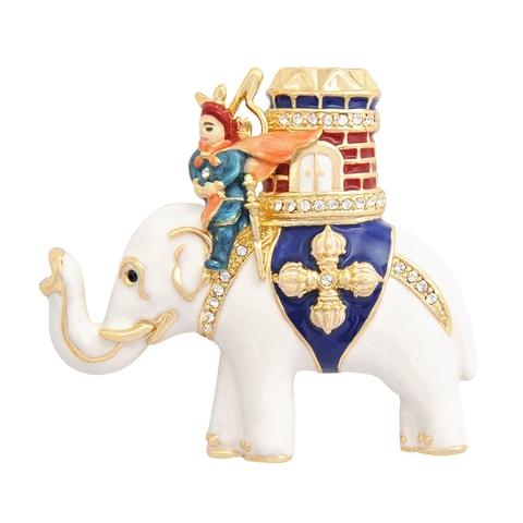 Брошь «Гессар на слоне с богатством»