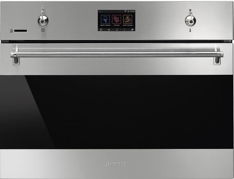 Компактный духовой шкаф Smeg SF4303WMCX с СВЧ
