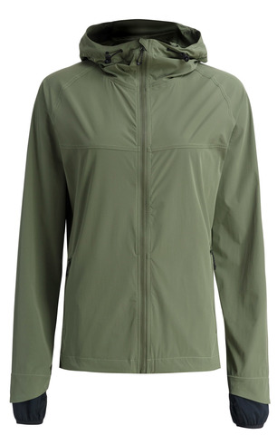Женская беговая непромокаемая куртка Gri Джеди 2.0 оливковая