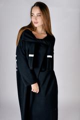 Черное трикотажное платье миди Nadya