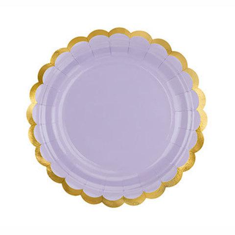 Тарелки малые лиловые, 6 штук