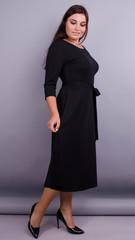 Кора. Вечернее платье плюс сайз. Черный.