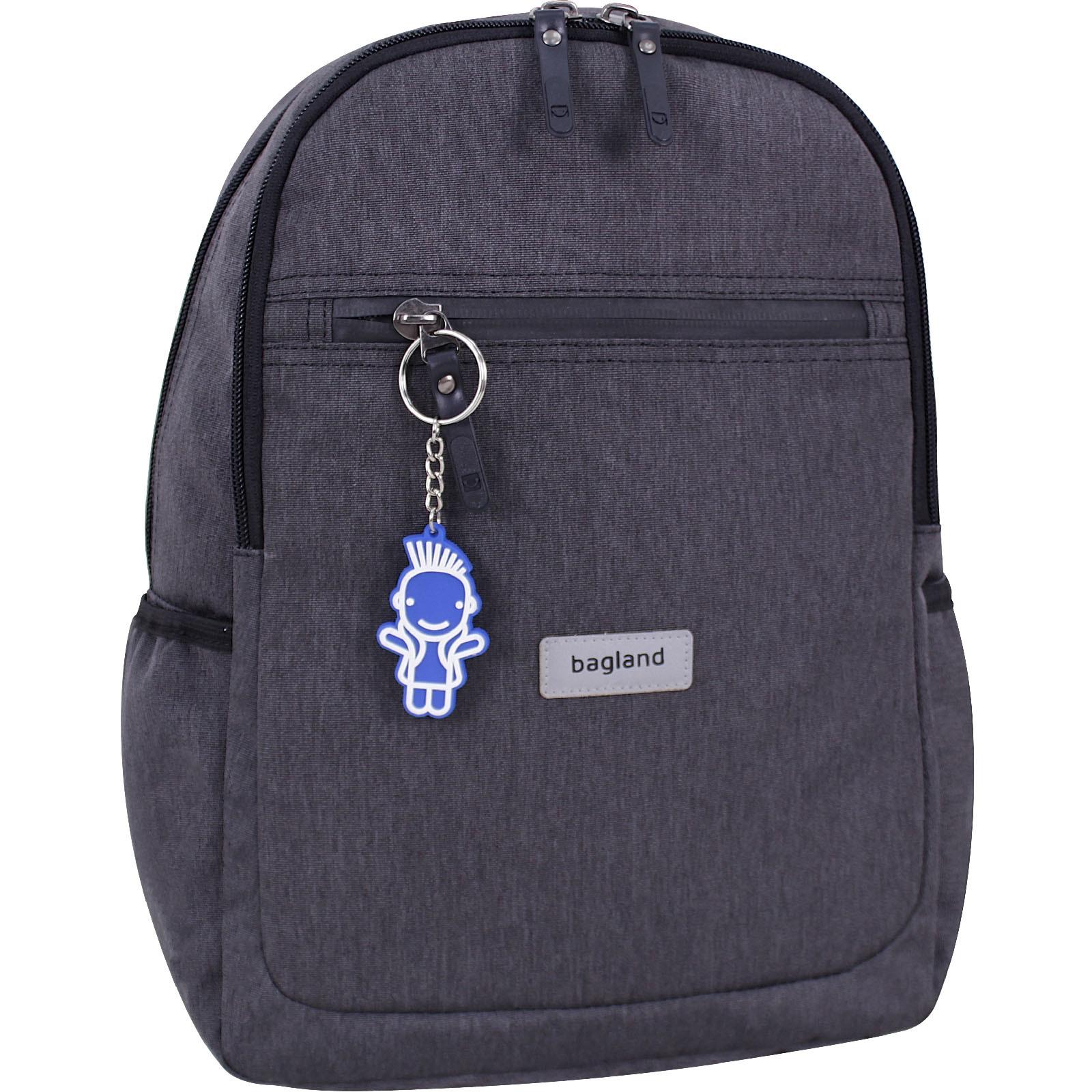 Детский рюкзак Bagland Young 13 л. Темно серый (0051069)