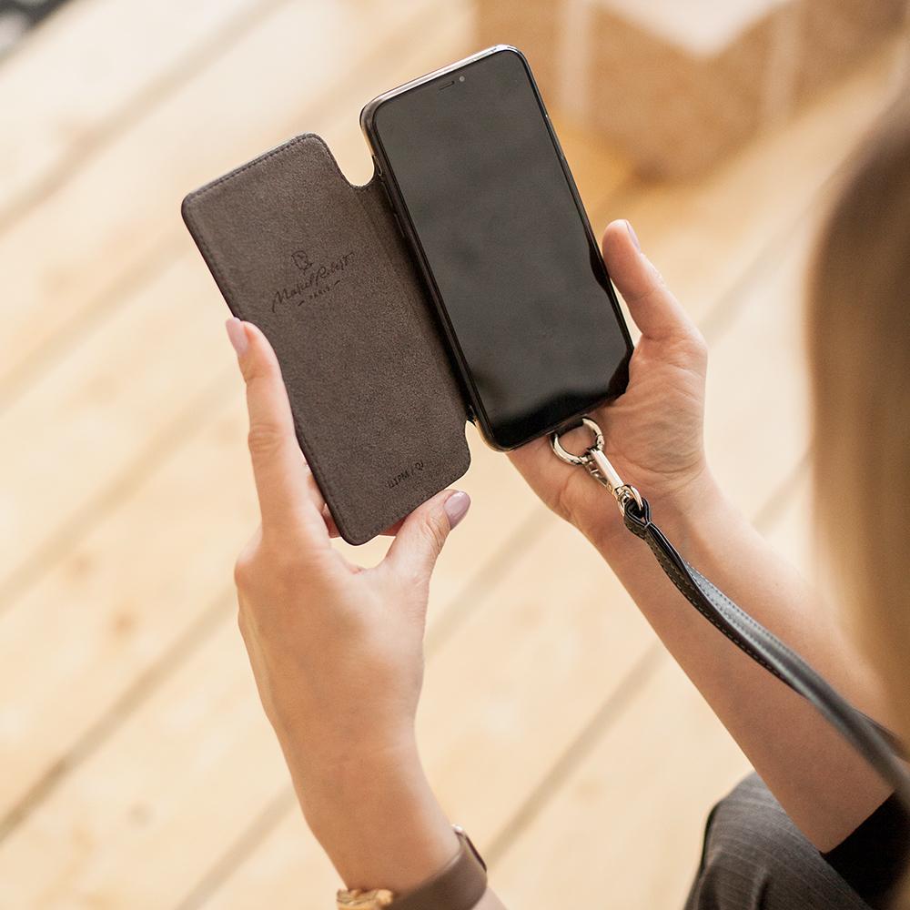Чехол Marcel для iPhone 11 Pro Max из натуральной кожи теленка, черного цвета