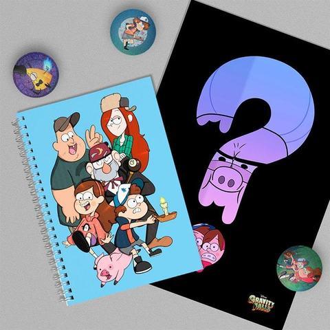 Gravity Falls: набор из тетради, плаката А4 и 3 значков