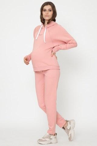 Утепленный спортивный костюм для беременных и кормящих 12013 розовый