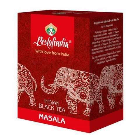 Чай MASALA черн/инд/лист/спец 100г Bestofindia