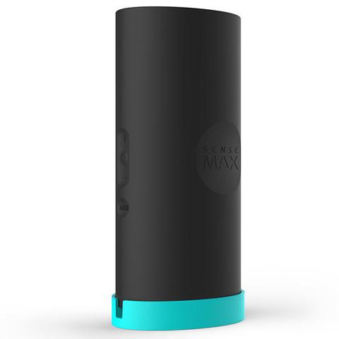 Мастурбатор с вибрацией Sensetube - черный, 19 см