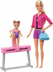 Barbie Gymnastics Coach Doll & Playset