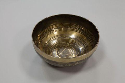 Кованая поющая чаша Itching Carving Анахата