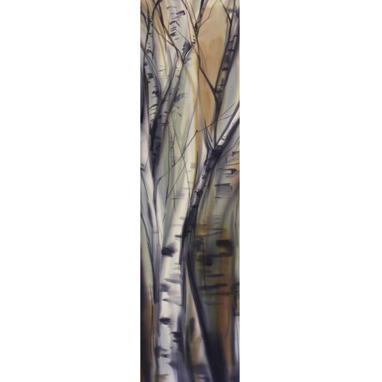 Шелковый шарф батик Березки