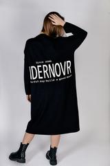 Черное трикотажное платье миди интернет магазин