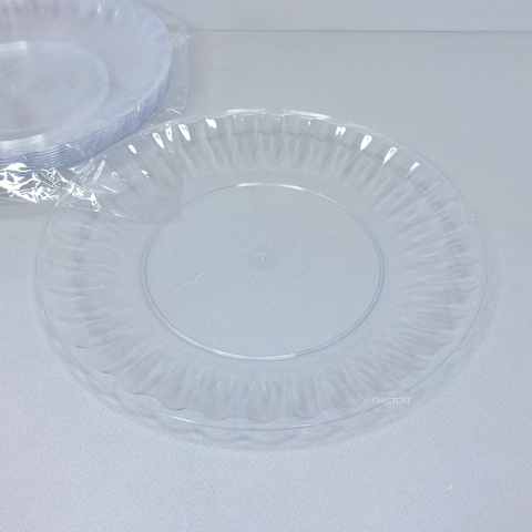 Тарелка 205мм стеклоподобная прозрачная (10 шт.)
