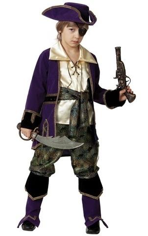 Костюм Капитан пиратов лиловый