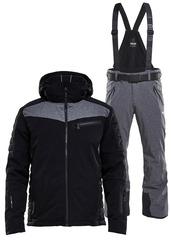 Элитный горнолыжный костюм 8848 Altitude Dimon Jacket Venture Black-Grey Melange мужской