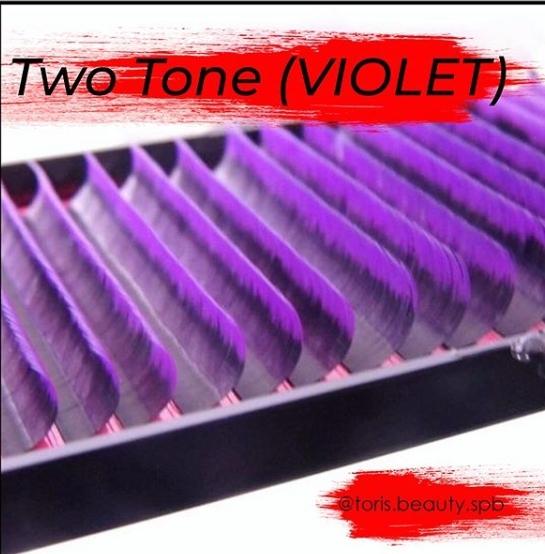 Ресницы Toris Beauty  2Tone (омбре) матовые изгиб D 0,07 mix