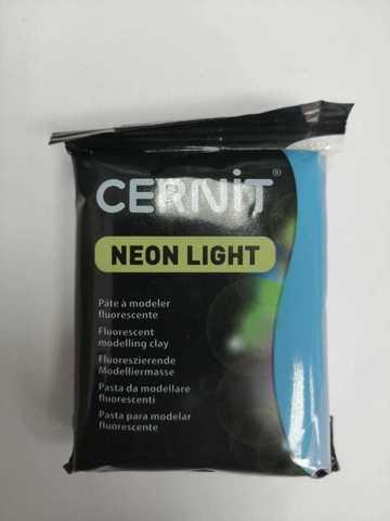 Полимерная глина CERNIT NEON 56г, неоновый голубой 200