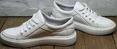 Красивые модные кроссовки прогулочные женские Maria Sonet 274k All White.